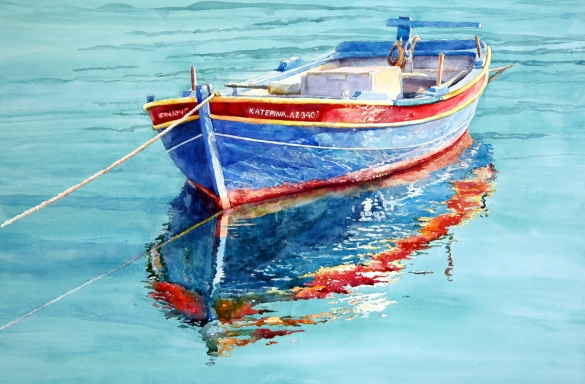 Aegean Bluestransparent watercolorimage