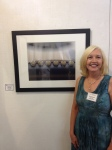 Rebecca Ragain  with one of her two pieces in the show