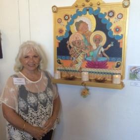 Carol Egan with Namaste'