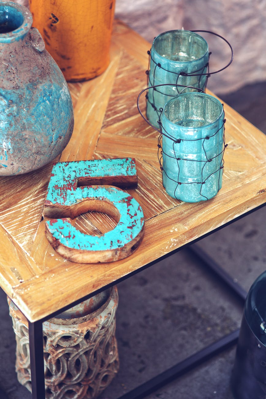 Wood Wooden Number Home Decor 5733