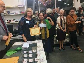 Ranju Bacrania with her Merit Award